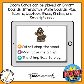 Boom Cards Digraph CH Read the Word
