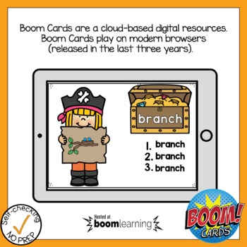 Digital Digraph CH Write the Word Boom Cards