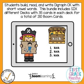 Digital Digraph CK Phonics Boom Cards Bundle