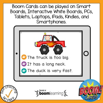 Boom Cards Digraph CK Read the Word