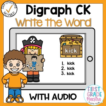 Digital Digraph CK Write the Word Boom Cards