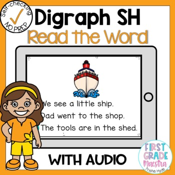 Boom Cards Digraph SH Read the Word