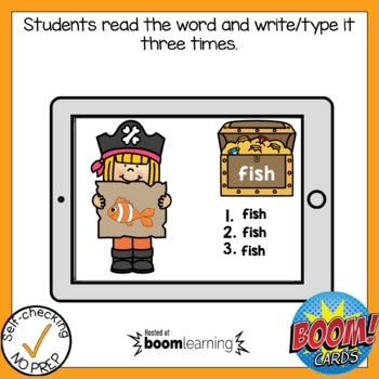 Digital Digraph SH Write the Word Boom Cards