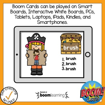 Boom Cards Digraph SH Write the Word