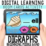 Digital Digraphs: Beginning, Middle & End   BOOM CARDS™  