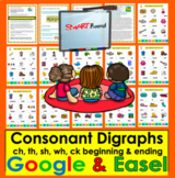 Digital Digraphs for Google Slides Kindergarten & First Gr