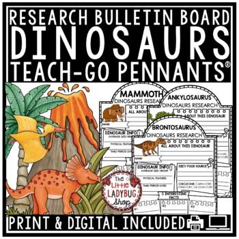 Digital Resource Dinosaurs Research -Paperless Activities Google Classroom™