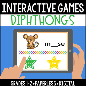 Interactive, Digital and Paperless Diphthongs Games