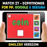 Digital Diphthongs Word Work for Google and Seesaw 2 - Dis