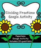 Digital Dividing Fractions Activity for Google Classroom