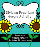 Digital Dividing Fractions Activity for Google Classroom