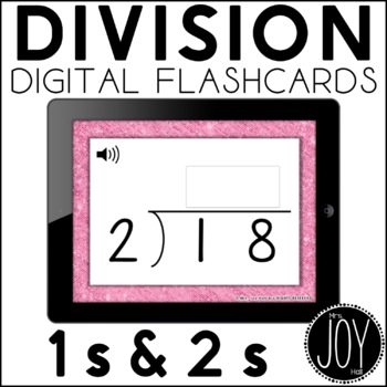 Digital Division Flashcards for 1s and 2s