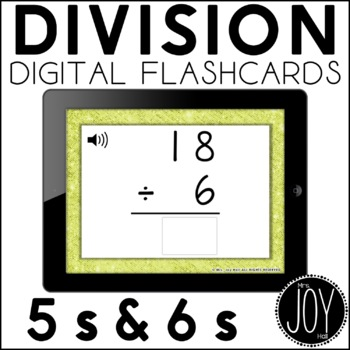Digital Division Flashcards for 5s and 6s