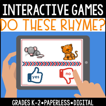 Interactive, Digital and Paperless Do These Words Rhyme? Games