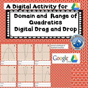 Digital Domain and Range of Quadratics