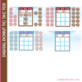 Digital Donut Tic Tac Toe Game with Moveable Pieces | Dist