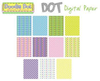Digital Dot Paper Bundle {Free}