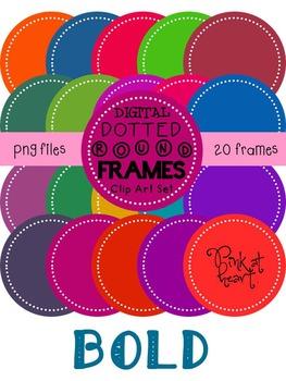 Digital Dotted Round Frames - Bold