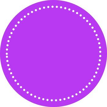 Digital Dotted Round Frames - Perfectly Purple