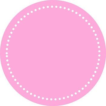 Digital Dotted Round Frames - Pretty in Pink
