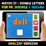 Digital Double Consonant Word Work for Google and Seesaw 2