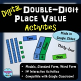 Digital Double-Digit Place Value Activities | Distance Learning