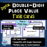 Digital Double-Digit Place Value Task Cards | Distance Learning