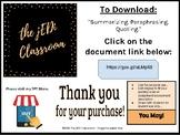 Digital Download - Quote. Paraphrase. Summarize. - SBG Assessment Tool