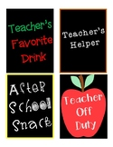 Digital Download Teacher Wine Labels