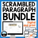 Scrambled Paragraph Activities Bundle   Digital Drag and D