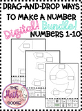 Digital Drag and Drop Ways to Make a Number 1-10 BUNDLE! K.2B