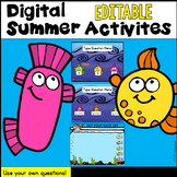 Digital EDITABLE  Spring Activities and Class Game (PowerP