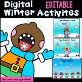 Digital EDITABLE  Winter Activities and Class Game (PowerP