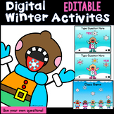 Digital EDITABLE  Winter Activities and Class Game (PowerP