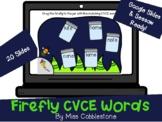 Digital ELA Activity- Firefly CVCE Words (FOR GOOGLE SLIDES, SEESAW, POWERPOINT)