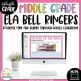 Digital ELA Bell Ringers Distance Learning for Upper Elementary Middle School