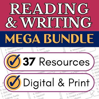 ELA Activities Growing Bundle for Google Classroom, OneDrive, Print