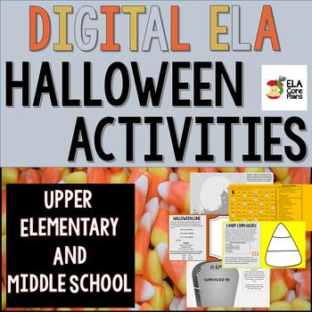 Digital ELA Halloween Activities