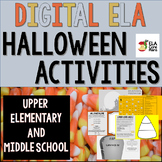 Digital ELA Halloween Activities