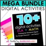 Digital Kindergarten ELA + Math Activity Bundle for Seesaw