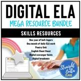 Digital ELA Mega Resource Bundle   Distance Learning   Goo