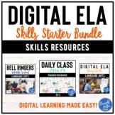 Digital ELA Skills Starter Bundle   Google Classroom   Dis