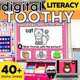 Digital ELA Toothy® Task Cards Bundle   Kindergarten   Dis