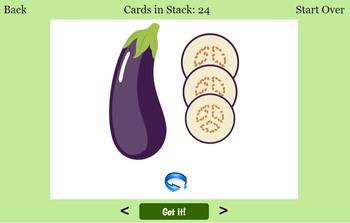 Digital ESL Vegetables Flashcards and Quizzes