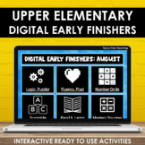 Digital Early Finishers Activities Upper Elementary Fast F