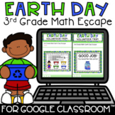 Digital Earth Day Escape Room Activity 3rd Grade Math Review Google Forms™