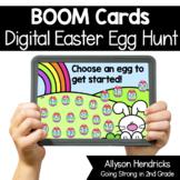 Digital Easter Egg Hunt ELA & Math Review 2nd Grade Boom Cards™