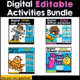 Digital Editable Activities Growing Bundle (PowerPoint Pre