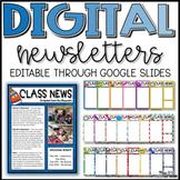 Digital Editable Classroom Newsletter