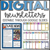 Digital Editable Classroom Newsletter